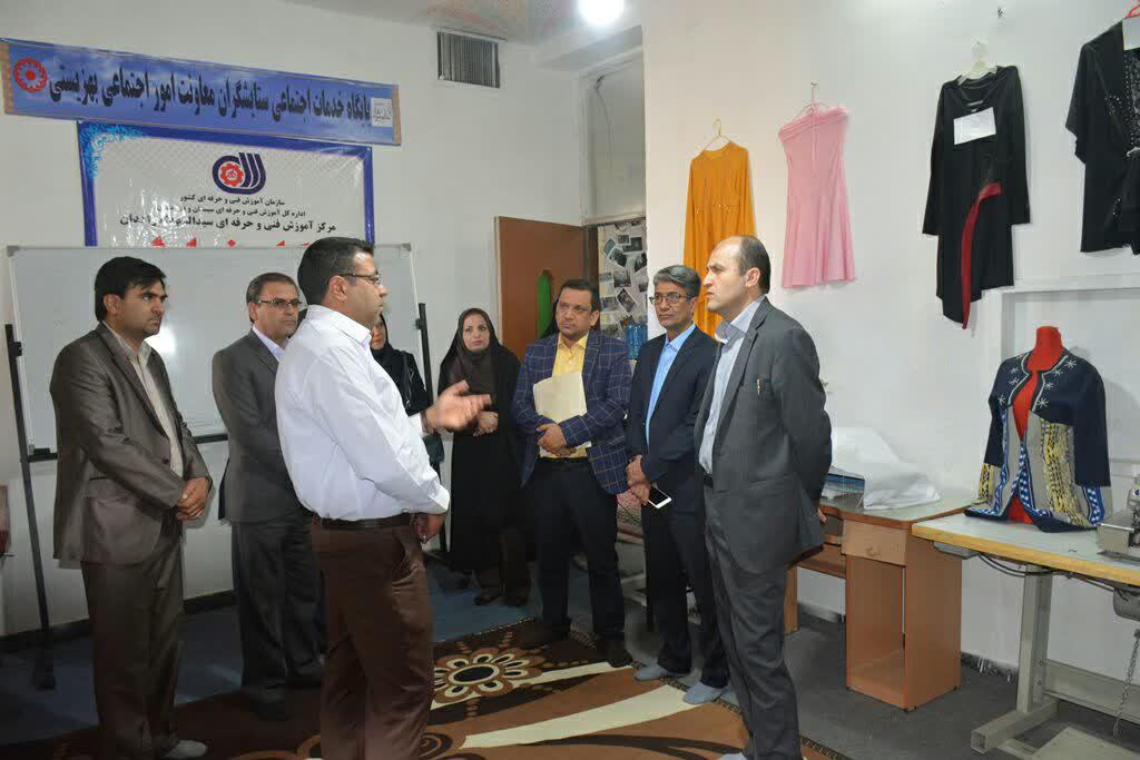 بازدید سرپرست دفتر آسیب های اجتماعی از مراکز بهزیستی سیستان و بلوچستان