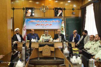 """مراسم معارفه """"سرهنگ صفرپور"""" به عنوان رئیس پلیس شهرستان ساری برگزار شد."""
