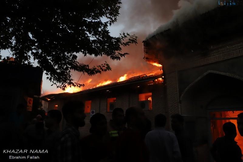 آتشی که به جان قدیمی ترین مسجد تاریخی شمال ایران افتاد
