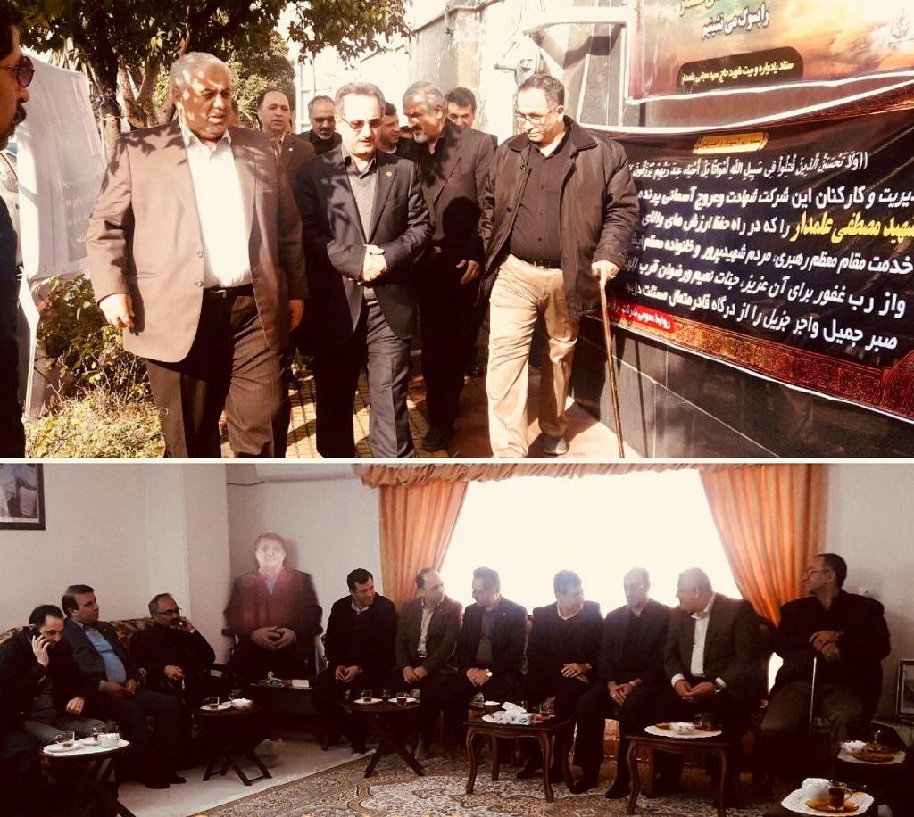 حضور دکتر محسنی در منزل شهید مصطفی علمدار